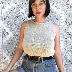 Vintage | tan knit tank